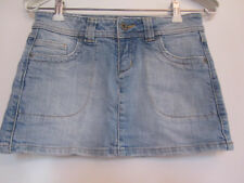 Topshop Light Blue Faded Denim Micro Mini Skirt in Size 8