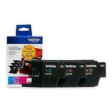 Brother LC71CL Inkjet Print Cartridge 3-Pack Box (Cyan Magenta Yellow) - Genuine