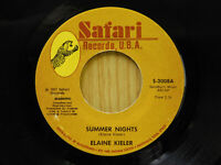 Elaine Kieler country 45 Summer Nights bw Walkin The Floor Over You Satiri