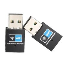 USB Mini Wireless Slim WiFi 802.11N 300Mbps Adapter WLAN Network Ethernet Dongle