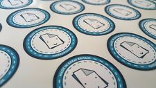 400 Printed Round Stickers - Custom Logo labels - Postage labels - Personalised