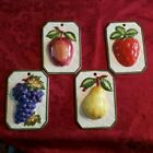 Vintage Shafford (Japan) Ceramic Fruit 4 pc wall hangings