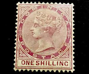 Dominica SG26 1/- Victoria 1883 m/mint CV £200