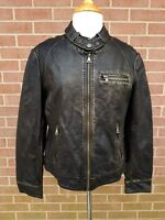 Giacca Gallery Women's Zipper Jacket Faux Leather Black/ Gold Size L