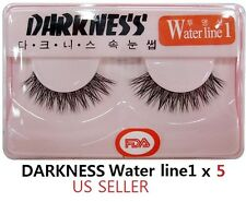 5 Pairs Darkness False Eyelashes Water line1