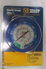 Yellow Jacket 49520 Blue Pressure Gauge R410A