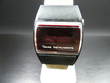 "X378 ⭐⭐Vintage "" Texas Instruments "" LED Quartz Wrist Watch Series 500 ⭐⭐"