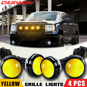 4pcs LED Amber Grille Lighting Kit Universal Fit Truck SUV Ford SVT Raptor Style