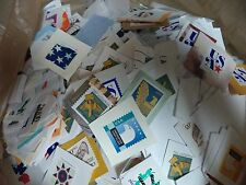 1 POUND BULK PREPAID NON PROFIT US STAMPS GREAT UNSORTED VARIETY CLEAN ON PAPER