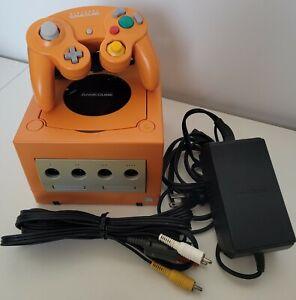 Official Nintendo Spice Orange Gamecube Console Bundle