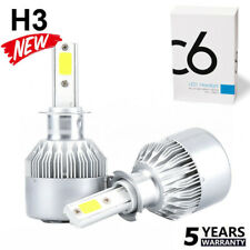 2x H3 LED Headlight Conversion Kit 1100W 15900LM Fog Light Beam Bulb 6000K Lamp~