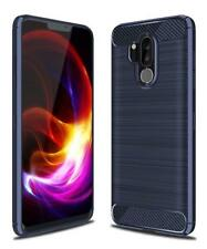 For LG G7 ThinQ Carbon Fiber Armor Cover Shockproof TPU Soft Case