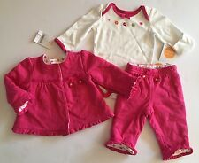 NWT Gymboree Brand New Baby 0-3 Months Reversible Quilted Jacket Pants Bodysuit