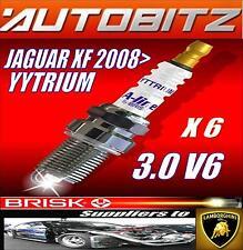 FITS JAGUAR XF 2008 > 3.0 V6 BOUGIES BRISK X6 IRIDIUM MÊME JOUR ENVOI