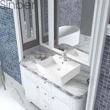 "Sinber 23""x17"" Rectangle Ceramic Bathroom Vanity Vessel Sink Above Counter Basin"