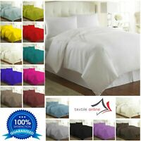 Plain Dyed Duvet Cover with Pillow Case Bedding Set Single Double King All Sizes