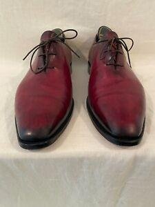BERLUTI Red OLGA 349 Oxford Dress Shoes Berluti Sz 10 inside, 10 1/2 0n Sole