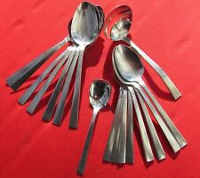 Brookwood Pattern Lot of 17 Pieces By Wm A Rogers Stainless Burnished Handle
