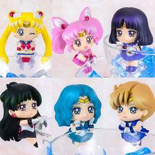 6x Sailor Moon Tea friends Chibi Neptune Pluto Saturn Uranus Figure New NO Box
