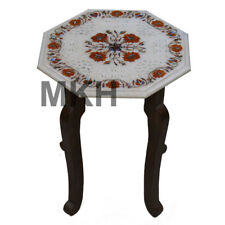 Italian Marble Side Table Top Inlay Stone Mosaic Vintage Marquetry Coffee Tables