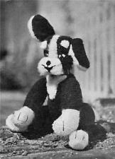 1950's PUPPY - COPY vintage toy knitting pattern