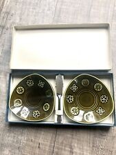 More details for lord nelson celtic green glazed cheese plates & server butter spreader bnib