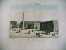 gravure FRANCE PITTORESQUE XIXe place de la concorde Paris