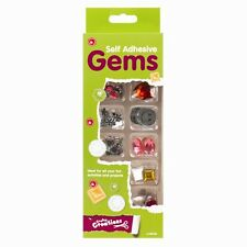 SELF ADHESIVE GEM PACK JEWELS/STONES-MIXED COLOUR/SHAPES-STICKERS EMBELLISHMENTS