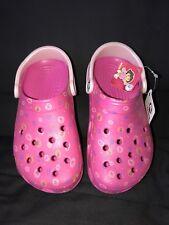 NWT Crocs  Girls Dora Dance Fuchsia/Cotton Candy Clog  Sz/ J3/5