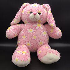 "Build-A-Bear Workshop Plush Pink Daisy Floral Bunny Rabbit 16"""