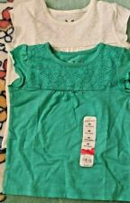Jumping Beans Girls size 4  Green and 4 white Shirt