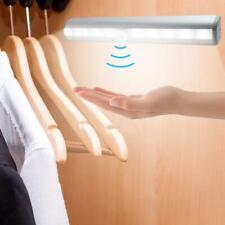 10LED Motion Sensor Bedroom Bedside Night Light Wardrobe Cabinet Wall Lamp