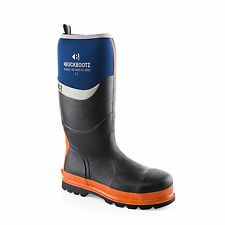 Buckler Bbz6000bl8 Safety Wellington Knee Boot Blue/orange Size 8