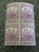 NEWFOUNDLAND POSTAGE STAMPS SG133 FIVE CENTS BLOCK OF 4 LMM