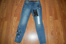 NWT Womens NINE WEST JEANS Gramercy Revival Embroidered Floral Skinny Jeans 10
