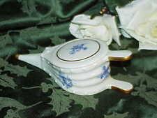 """Rare Limoges Bellows Trinket box Antique Flow Blue Floral 7"""" Blue Floral"""