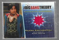 Big Bang Theory season 5 wardrobe costume card M4 Kunal Nayyar - Raj RED variant