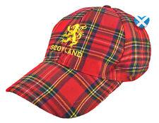 TARTAN Baseball Cap ROYAL STEWART RAMPANT LION Scottish Mens Hat Football Rugby