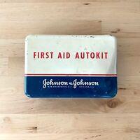 Vintage Johnson & Johnson Autokit Metal First Aid Kit