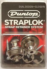 Jim Dunlop Dual Design Straploks Straplocks for guitars - Nickel - SLS1031N