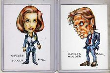 THE X-FILES TV SERIES (2 CARDS) ART PRINTS FOX MULDER DANA SCULLY RAK