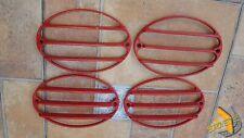 Corvette C5 rear lens louvers – ABS painted RED