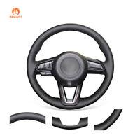 DIY Black PU Leather Steering Wheel Cover for Mazda 6 Mazda 3 CX-3 CX-5 CX-9