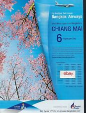 BANGKOK AIRWAYS AIRBUS A319 FLY BOUTIQUE FEEL UNIQUE CHIANG MAI 6 FLIGHTS AD
