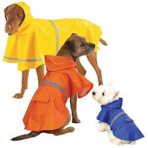 Guardian Gear Brite RainCoat Jacket  Dog Rain jacket w/ hood BLUE Size:XLARGE