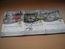 3 Dubai Duty Free Shergar Cup Programmes With Autographs