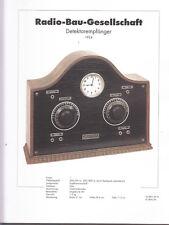 Schaltplan Radio-Bau-Gesellschaft Detektorempfänger / Rundfunkmuseum