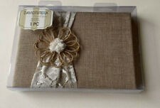 David Tutera Rustic Burlap Wedding Guest Book New