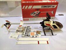 Vintage Kyosho  concert 30 nitro helicopter with servos & Gyro OS 32 OS