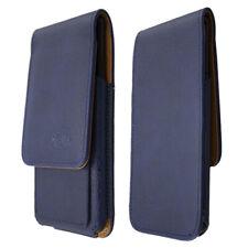 caseroxx Flap Pouch voor HTC U12 in blue gemaakt van real leather
